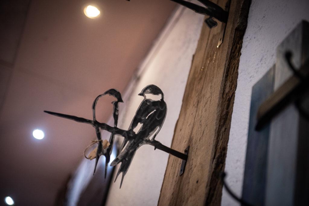 oiseau en métal