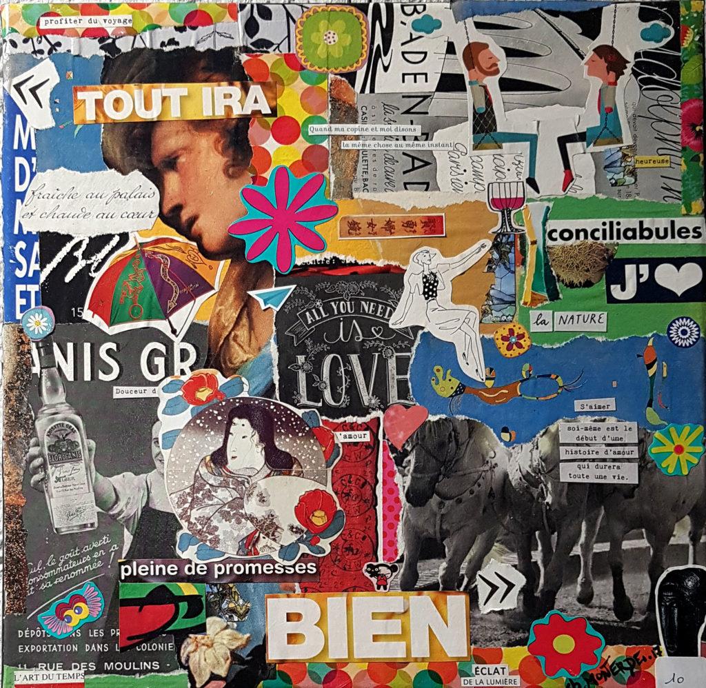 Collages sur toile