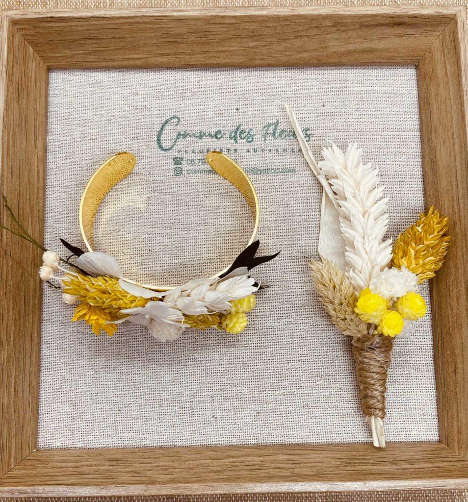 bouquet et bracelet