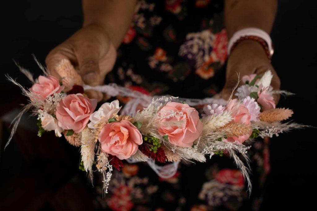 couronne_sombre de fleurs