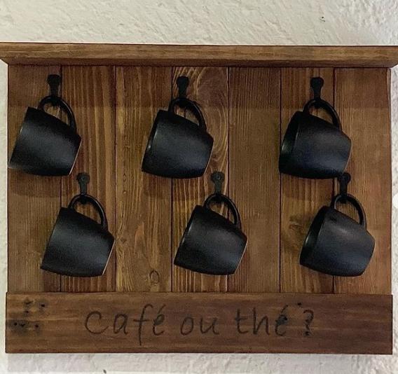 porte tasses en bois