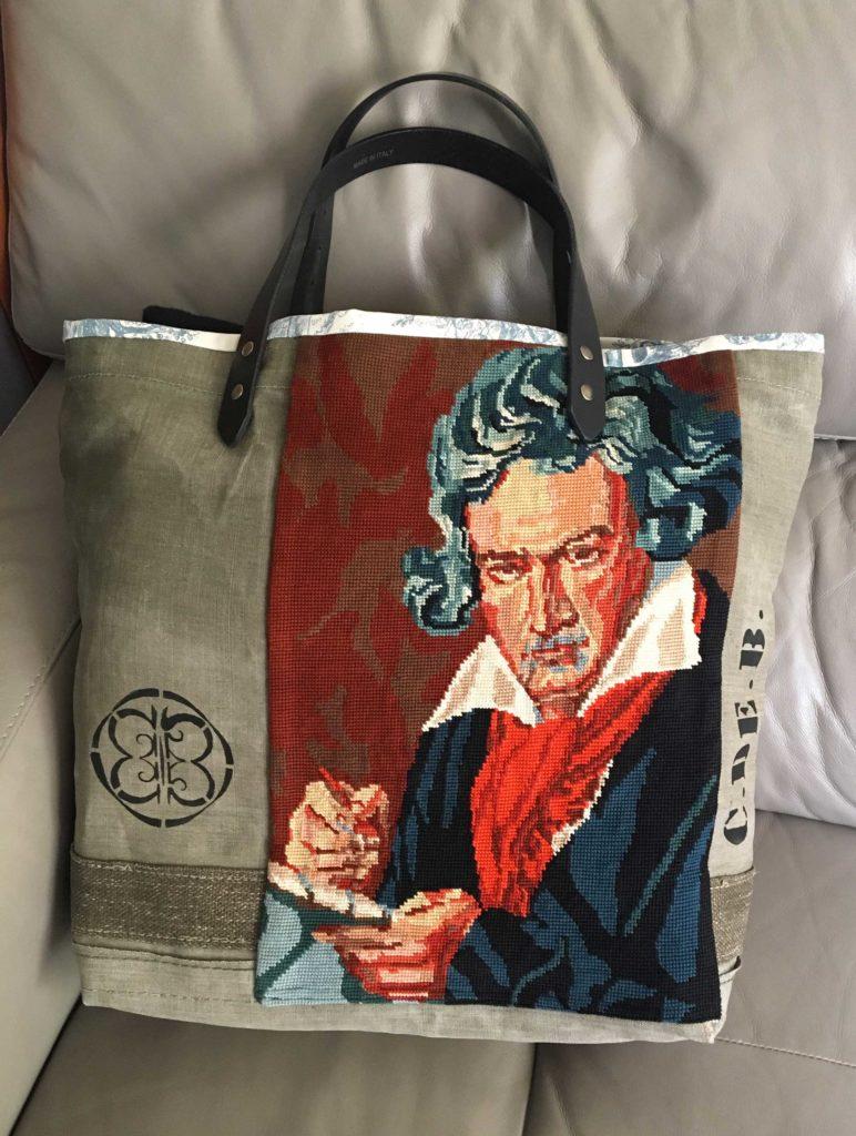 Sac avec visage de Beethoven