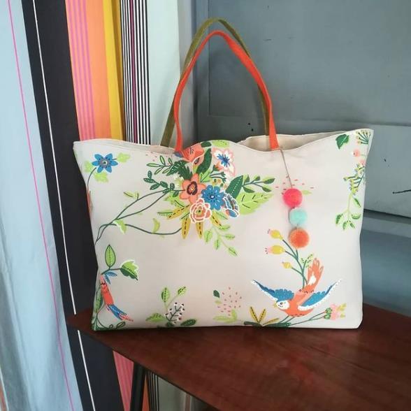 sac fleuri