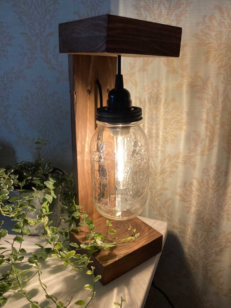 Lampe avec plante